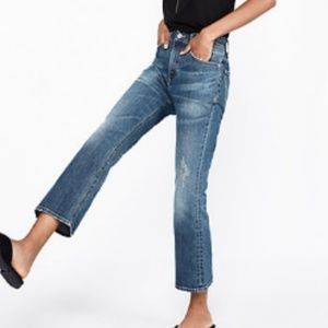 Express Cropped High Rise Bell Flare Jeans